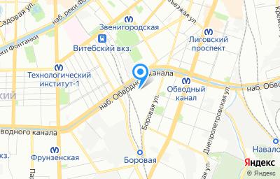 Местоположение на карте пункта техосмотра по адресу г Санкт-Петербург, ул Боровая, д 47 литер д