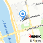 ТаВ Ойл на карте Санкт-Петербурга