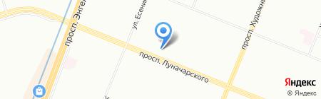 Музыка Окон на карте Санкт-Петербурга