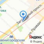 Сервисфон на карте Санкт-Петербурга