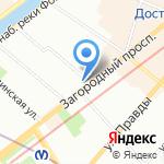 Галерея на карте Санкт-Петербурга