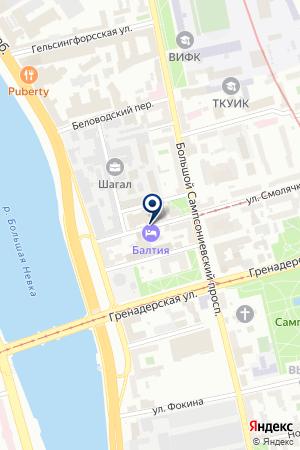 УНР № 111 на карте Санкт-Петербурга