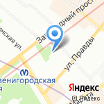 JAZZCLUB Hotel на карте Санкт-Петербурга