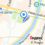 Аничков лицей на карте Санкт-Петербурга