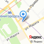 Фабрика путешествий на карте Санкт-Петербурга