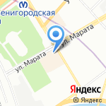 Васабико на карте Санкт-Петербурга