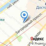 Кинетик на карте Санкт-Петербурга