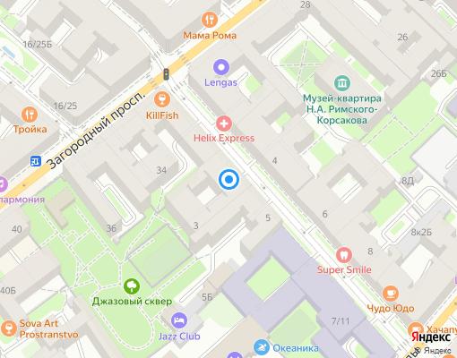 Жилищно-строительный кооператив «Социалистическая 3» на карте Санкт-Петербурга