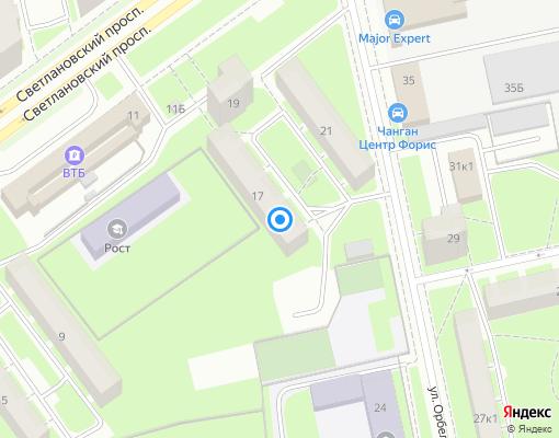 Жилищно-строительный кооператив «Выборжец» на карте Санкт-Петербурга