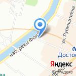 Фонтанка на карте Санкт-Петербурга