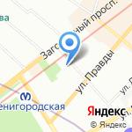 Кризисный центр помощи женщинам на карте Санкт-Петербурга