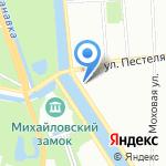 Комитет общего и профессионального образования Ленинградской области на карте Санкт-Петербурга