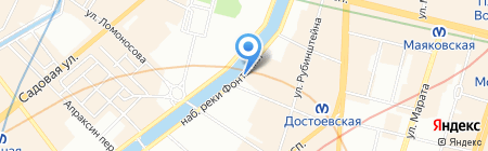 ВостокИнвест на карте Санкт-Петербурга