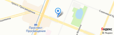 Маска на карте Санкт-Петербурга
