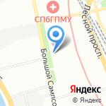 Военный институт физической культуры на карте Санкт-Петербурга