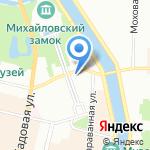 Спортивный Клуб Армии на карте Санкт-Петербурга