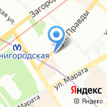Детский сад №20 на карте Санкт-Петербурга