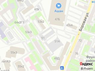 Аренда офиса 53 м2 в бизнес-центре, метро Обводный Канал