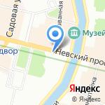 Киоск по продаже театральных билетов на карте Санкт-Петербурга