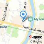 Золотой Замок на карте Санкт-Петербурга