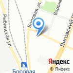 Полк патрульно-постовой службы полиции на карте Санкт-Петербурга