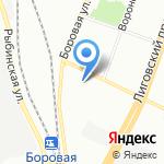 Ночлежка на карте Санкт-Петербурга