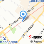 9Bar на карте Санкт-Петербурга