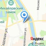 Эксперта на карте Санкт-Петербурга