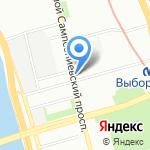 Петрорадуга на карте Санкт-Петербурга