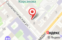 Схема проезда до компании Апельсин в Астрахани