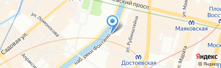 Детский сад №92 на карте Санкт-Петербурга