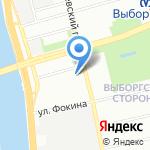 Санкт-Петербургская инструментальная техника на карте Санкт-Петербурга