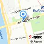 Гимназия №92 на карте Санкт-Петербурга