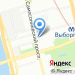 Эванда на карте Санкт-Петербурга