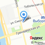 КОСМИ на карте Санкт-Петербурга