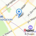 Юнион Клиник на карте Санкт-Петербурга