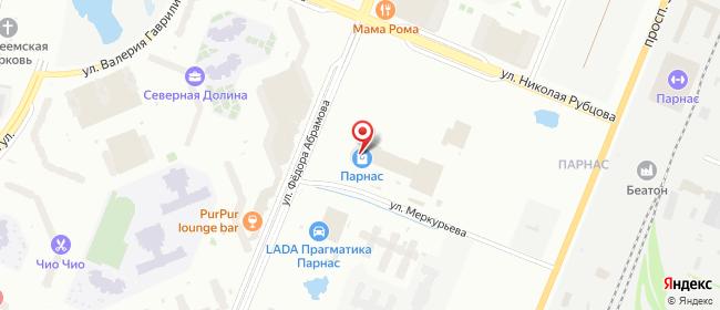 Карта расположения пункта доставки Санкт-Петербург 4-й Верхний переулок в городе Санкт-Петербург
