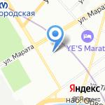 Союз писателей России на карте Санкт-Петербурга