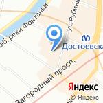 Юкон тревел-люкс на карте Санкт-Петербурга