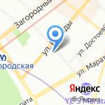 Братья Карамазовы на карте Санкт-Петербурга