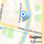 Шоколадница на карте Санкт-Петербурга