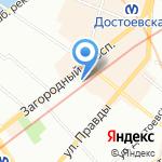 Цвет на карте Санкт-Петербурга