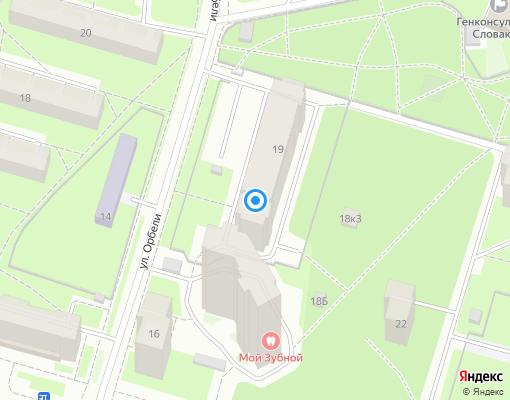 Товарищество собственников жилья «Орбели 19» на карте Санкт-Петербурга