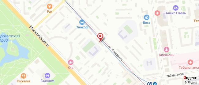 Карта расположения пункта доставки СИТИЛИНК в городе Санкт-Петербург