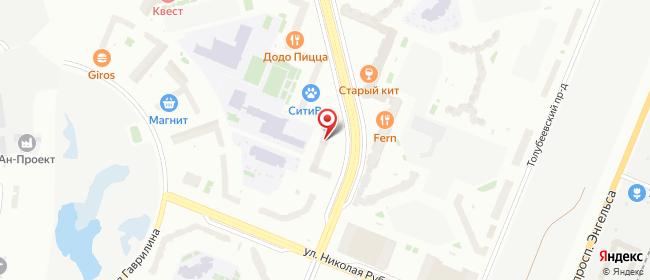 Карта расположения пункта доставки Санкт-Петербург Фёдора Абрамова в городе Санкт-Петербург