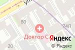 Схема проезда до компании Доктор САН в Санкт-Петербурге