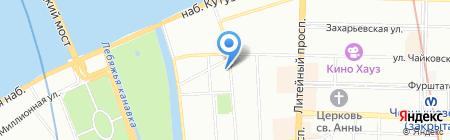 Русские блины на карте Санкт-Петербурга