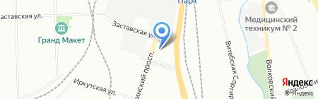 Европаркинг на карте Санкт-Петербурга