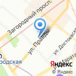 Дольче Портэ на карте Санкт-Петербурга