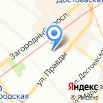 Детский сад №19 комбинированного вида на карте Санкт-Петербурга